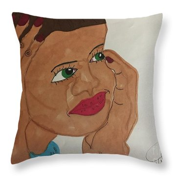 A Young Woman  Throw Pillow