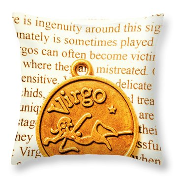 A Zodiac Theme In Virgo Throw Pillow