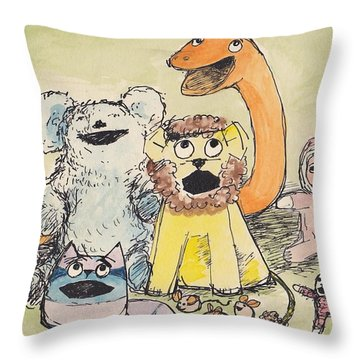 A1  Andreas Toys Throw Pillow by Charles Cater