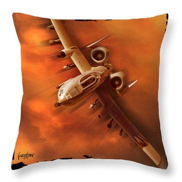 A10 Warthog Throw Pillow