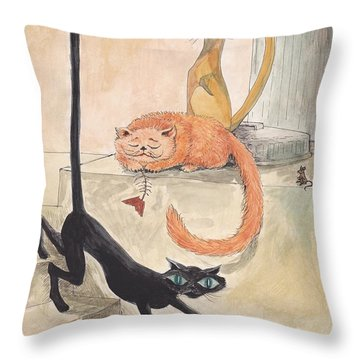 Lucky 13 Throw Pillow by Charles Cater