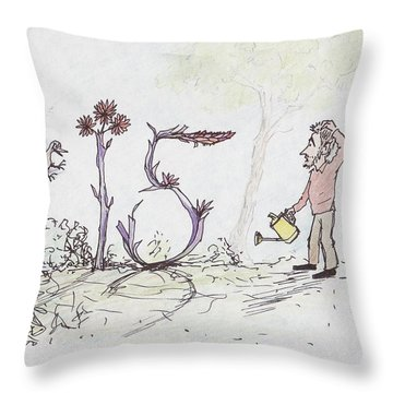 Growing Curious At 15 Throw Pillow by Charles Cater