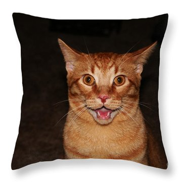 Aaaaaahhhhhhhhhh Throw Pillow