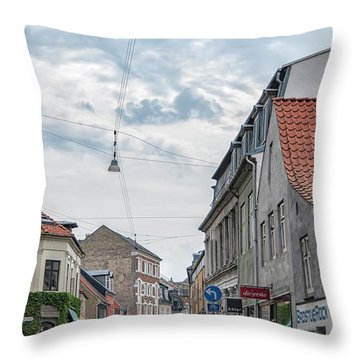 Throw Pillow featuring the photograph Aarhus Urban Scene by Antony McAulay