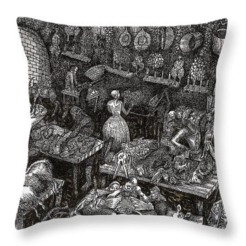 Aaron Finds Duryano Throw Pillow by Al Goldfarb