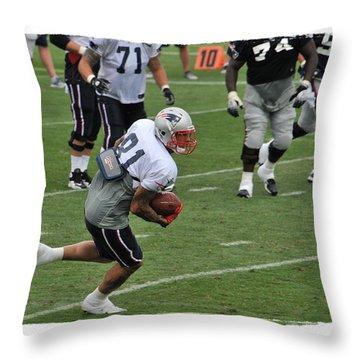 Aaron Hernandez Throw Pillow