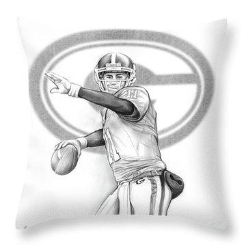 Aaron Murray Throw Pillow