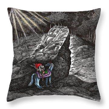 Aaron Saddles Asil Throw Pillow by Al Goldfarb