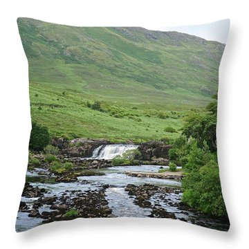Aasleagh Falls Throw Pillow