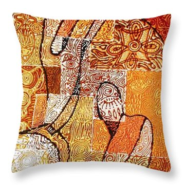 Aba Alagemo Ba Da Lorisa Oke Ngba Throw Pillow