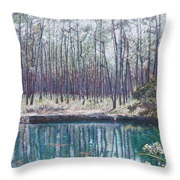 Abaco Blue Hole Throw Pillow