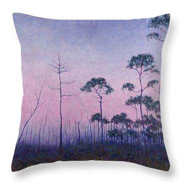 Abaco Pines At Dusk Throw Pillow