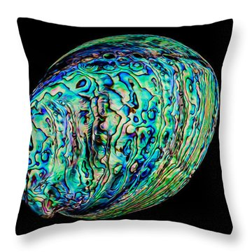 Abalone On Black Throw Pillow