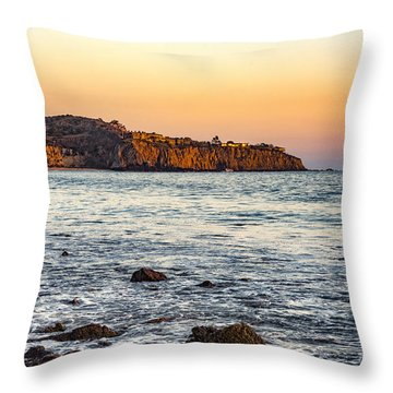 Throw Pillow featuring the photograph Abalone Point Sunset by Anthony Baatz