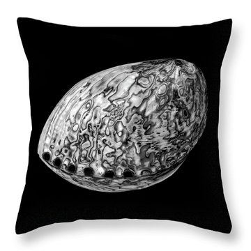 Abalone Sea Shell Throw Pillow by Jim Hughes