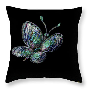 Throw Pillow featuring the photograph Abalonefly by Rikk Flohr