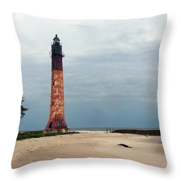 Abandon Lighthouse Throw Pillow