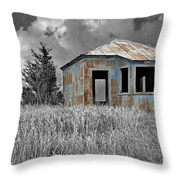 Abandon Railroad Shack Throw Pillow