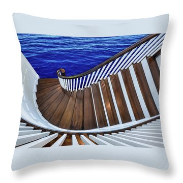 Abandon Ship Throw Pillow by Paul Wear