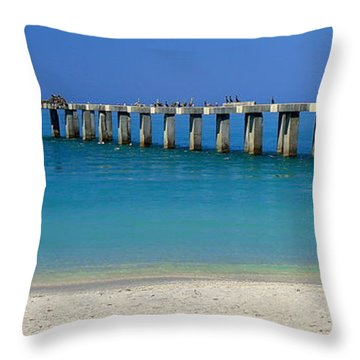 Abandond Pier Throw Pillow