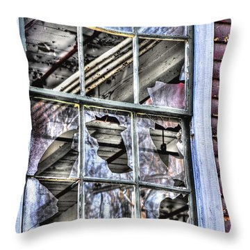Throw Pillow featuring the photograph Abandoned by Alana Ranney
