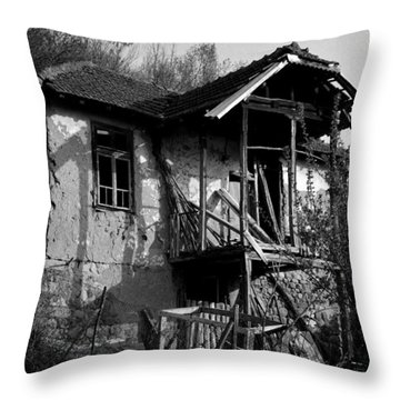 Abandoned And Forgotten 3 Throw Pillow