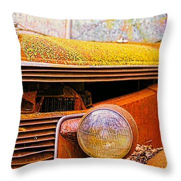 Abandoned Antique Truck 2 Throw Pillow