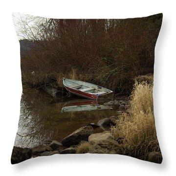 Abandoned Boat II Throw Pillow