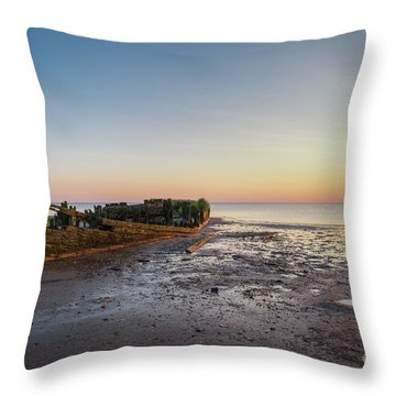 Abandoned Boat Throw Pillow