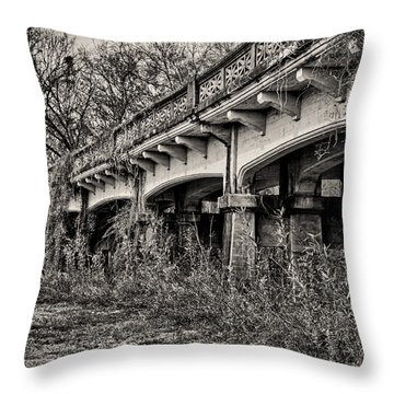 Abandoned Bridge Throw Pillow