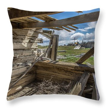 Abandoned Building In Cisco, Utah Throw Pillow