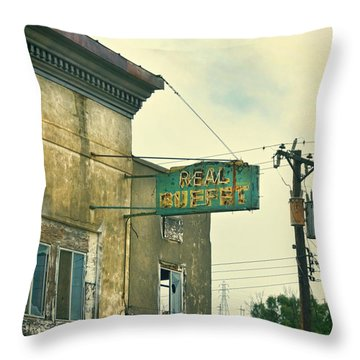 Abandoned Building Throw Pillow by Jill Battaglia
