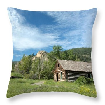 Abandoned Cabin Throw Pillow