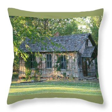 Abandoned Cottage Throw Pillow