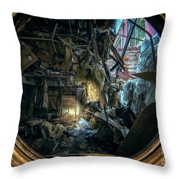Abandoned Decay Throw Pillow