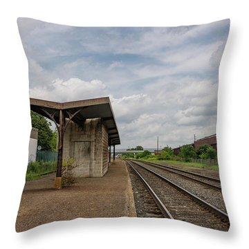 Abandoned Depot Throw Pillow