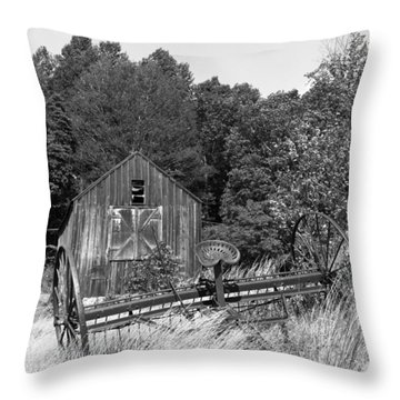Abandoned Farm Atlantic Coast  Throw Pillow