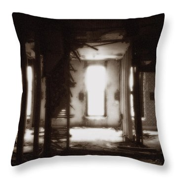 Abandoned Flophouse In Denver Throw Pillow