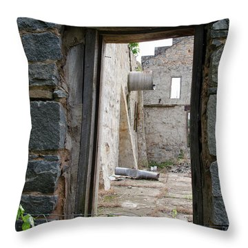 Abandoned Gin Throw Pillow