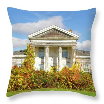 Abandoned Greek Revival Throw Pillow