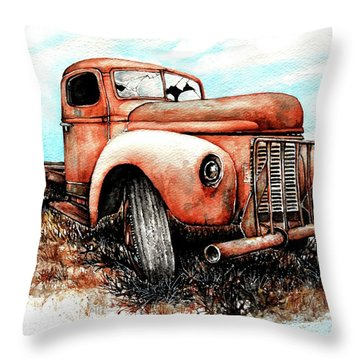 Abandoned Throw Pillow by Heidi Kriel