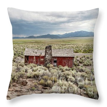 Throw Pillow featuring the photograph Abandoned Homestead by Melany Sarafis