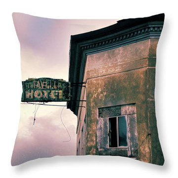 Abandoned Hotel Throw Pillow by Jill Battaglia