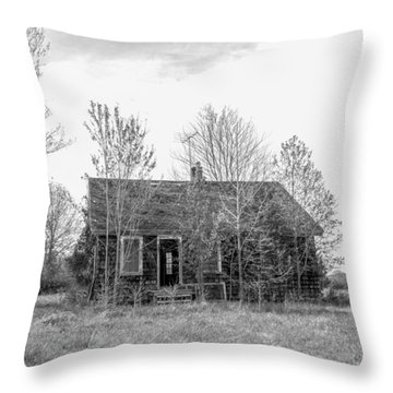 Abandoned House Queenstown, Md  Throw Pillow