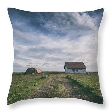 Abandoned Iceland  Throw Pillow