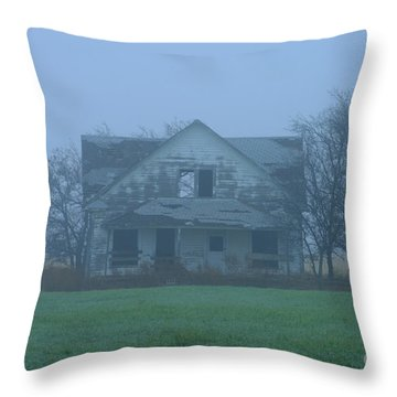 Abandoned In Oklahoma Throw Pillow