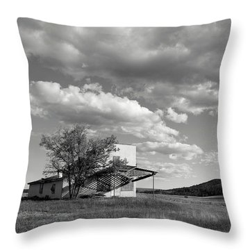Abandoned In Wyoming Throw Pillow