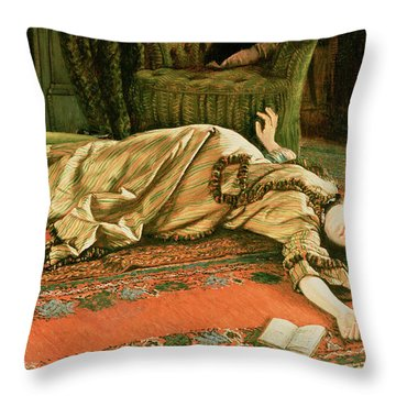 Abandoned Throw Pillow by James Jacques Joseph Tissot