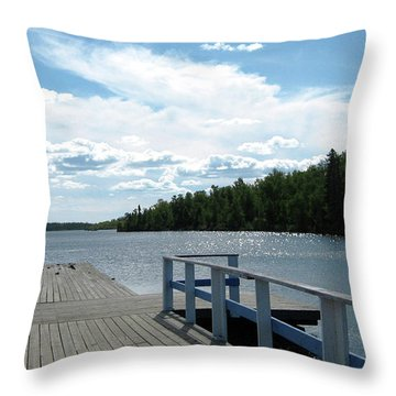 Abandoned Jetty Throw Pillow