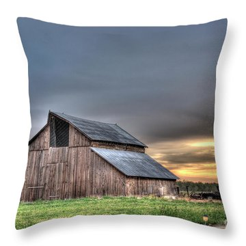 Throw Pillow featuring the photograph Abandoned by Jim and Emily Bush